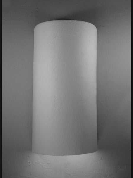 Architectural-18″ Closed Top Lighting Fixture-Unfinished Bisque-Indoor/Outdoor Wall Sconce