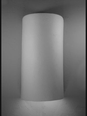Architectural-18″ Open Top Lighting Fixture-Unfinished Bisque-Indoor/Outdoor Wall Sconce