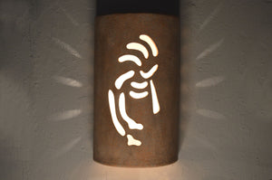 14'' Closed Top-Kokopelli-Sandstone-Outdoor lit