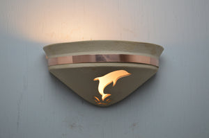Half Bell-Dolphin-Tan-copper band-uplight-indoor lit-118 218 408 775 91