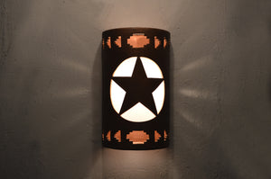 Lone Star-SW Side Steps-Antique Copper-14'' Lit-116 335 2014 665 90