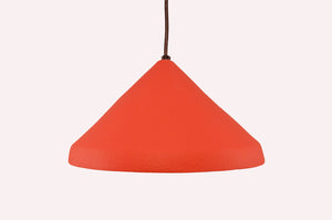 Pendant Cone 13''-Asian Red-Black cord