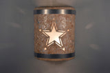 Texas Star-stainless steel bands-Copper Road-indoor-outdoor