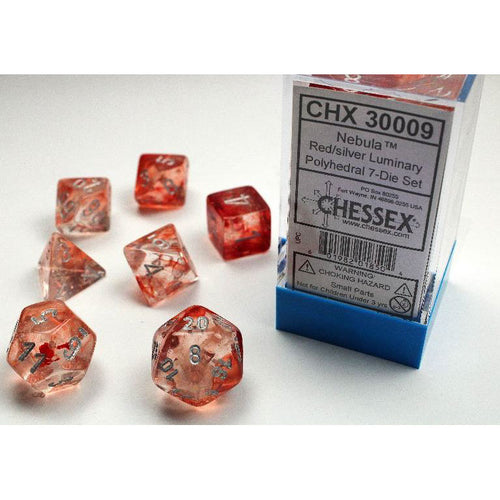 Chessex Nebula Red/Silver