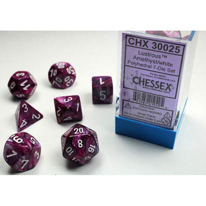 Chessex Lustrous Amethyst/White