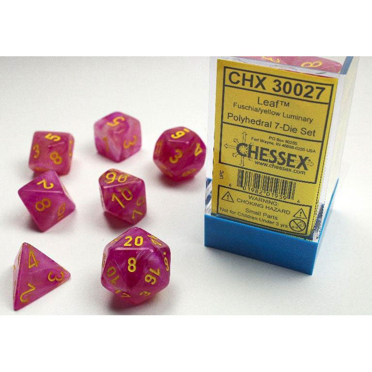 Chessex Leaf Fuschia/Yellow