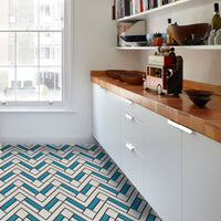 Block 45 Cement Tile BLUE