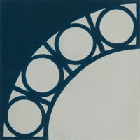 Webb Cement Tile DARK BLUE