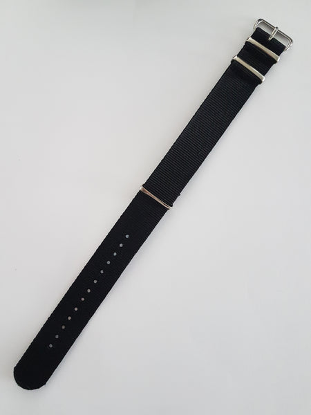 Black Nato Style Watch Band - Watch Off The Cuff