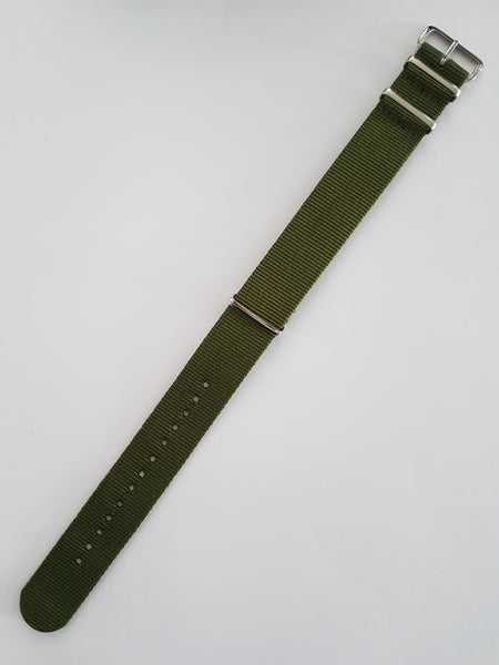 Green Nato Style Watch Band - Watch Off The Cuff