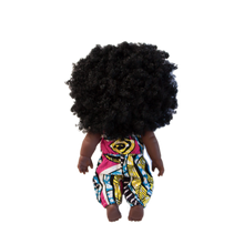 Load image into Gallery viewer, Yaa Asantewaa Doll in Blue Romper