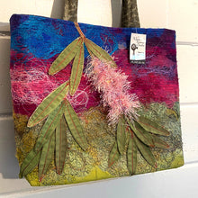Load image into Gallery viewer, Original Handmade Quilted Australiana Handbag - Bottlebrush