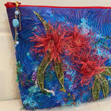 Load image into Gallery viewer, Original Handmade Quilted Australiana Cosmetic Bag - Wildfire