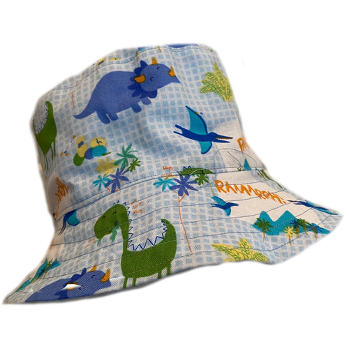Boys Handmade Baby & Toddler Hat - Dinosaur Light