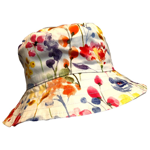 Girls Handmade Baby & Toddler Hat - Watercolour Floral
