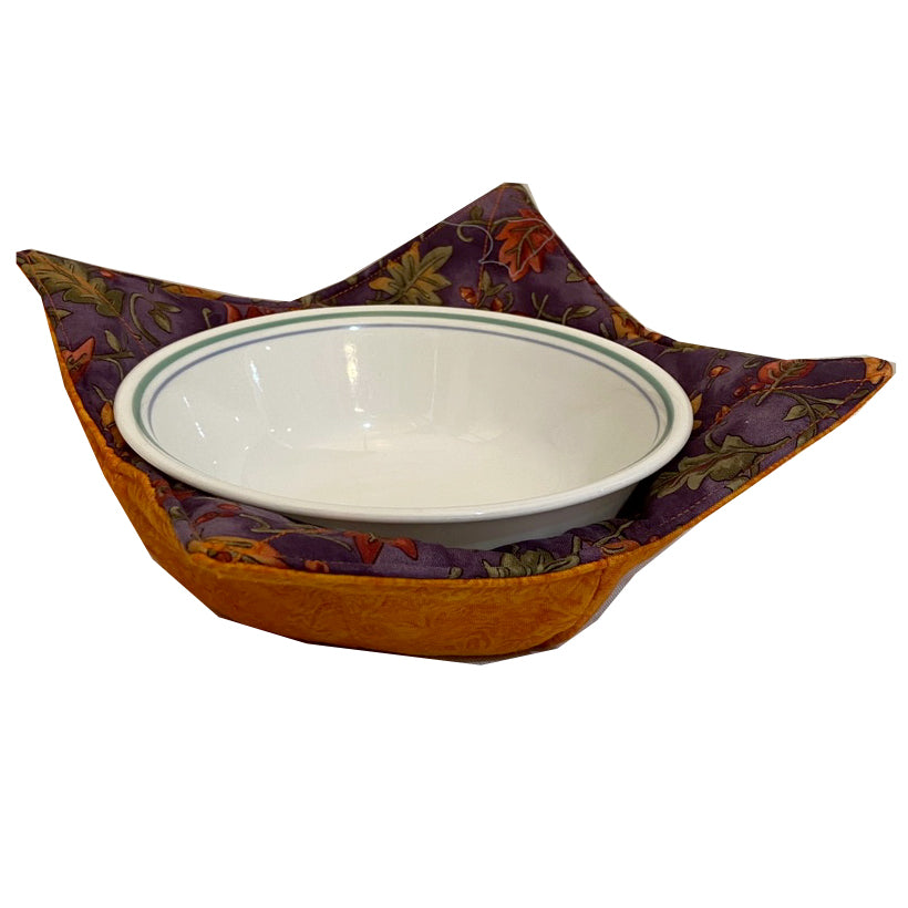 Handmade Microwave Bowl Holder - Mauve