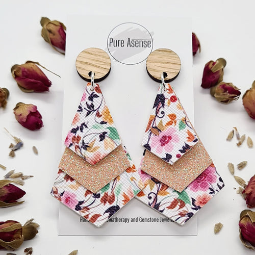 Floral Diffuser Earrings