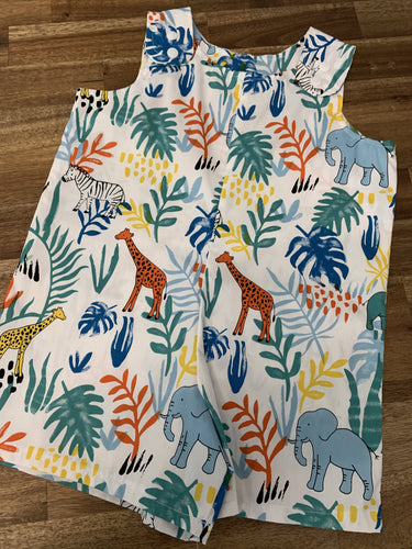 Baby Boy Overalls- Jungle Print