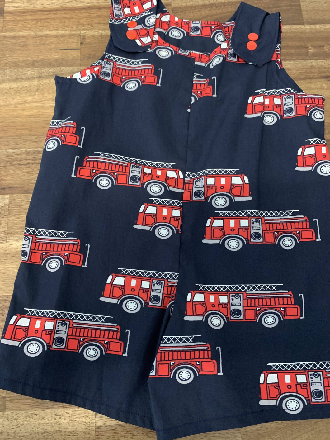 Baby Boy Overalls- Fire truck