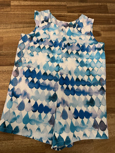 Baby Boy Overalls- Blue drips