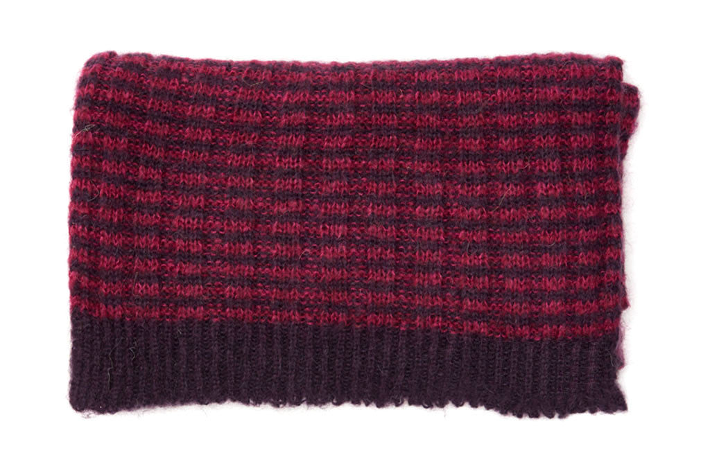 Knit mohair scarf