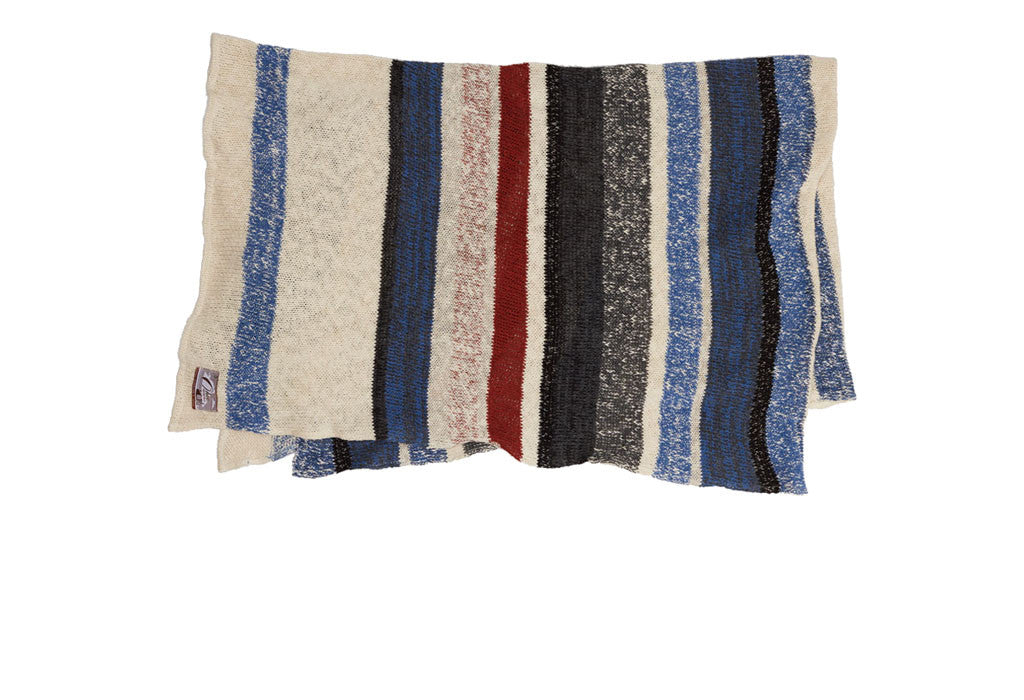 Multi-Stripe Throw