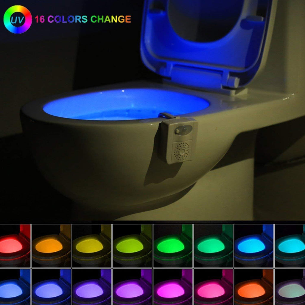 16-Color UV Sterilization Toilet Night Light Gadget