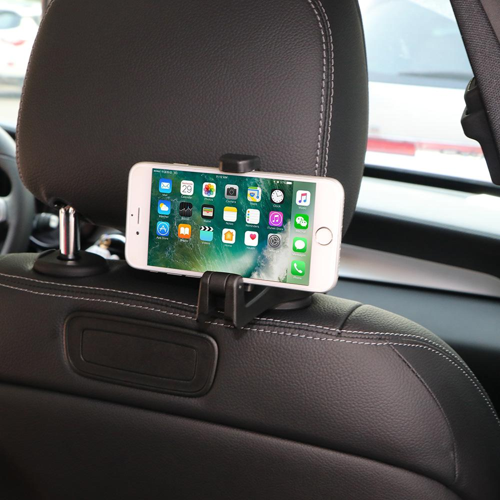 2 In 1 Headrest Hook & Phone Holder Bracket