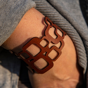 Laser Cut Leather Bracelets By Leo Gotlibowski