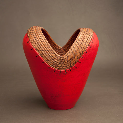 Medium Heart Vessel in Red
