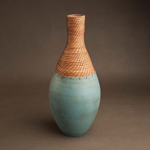 Bottle Vessel in Turquoise