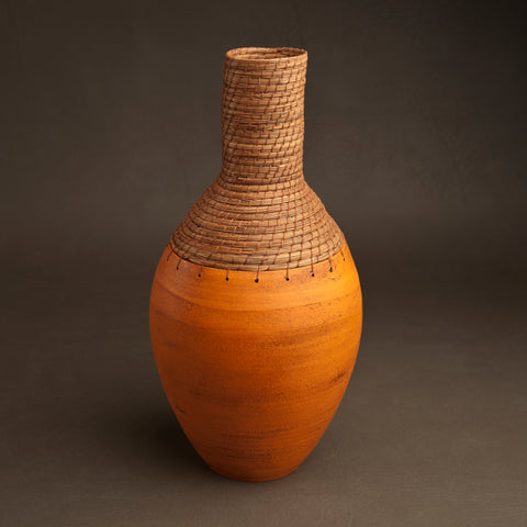 Bottle Vessel in Orange
