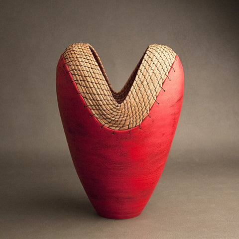 Large Heart Vessel in Red