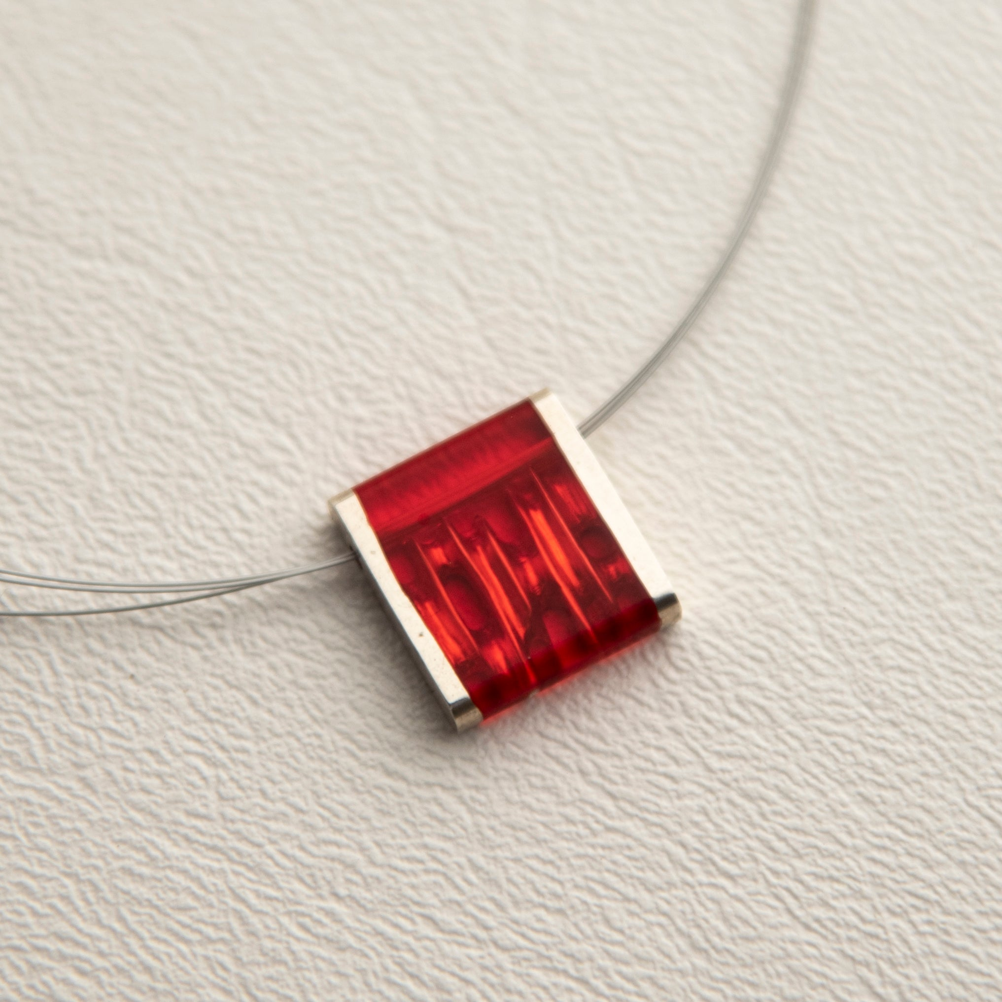 Square Accordion necklace