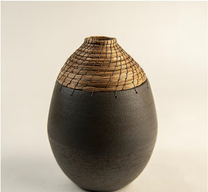 Gray orbit vase