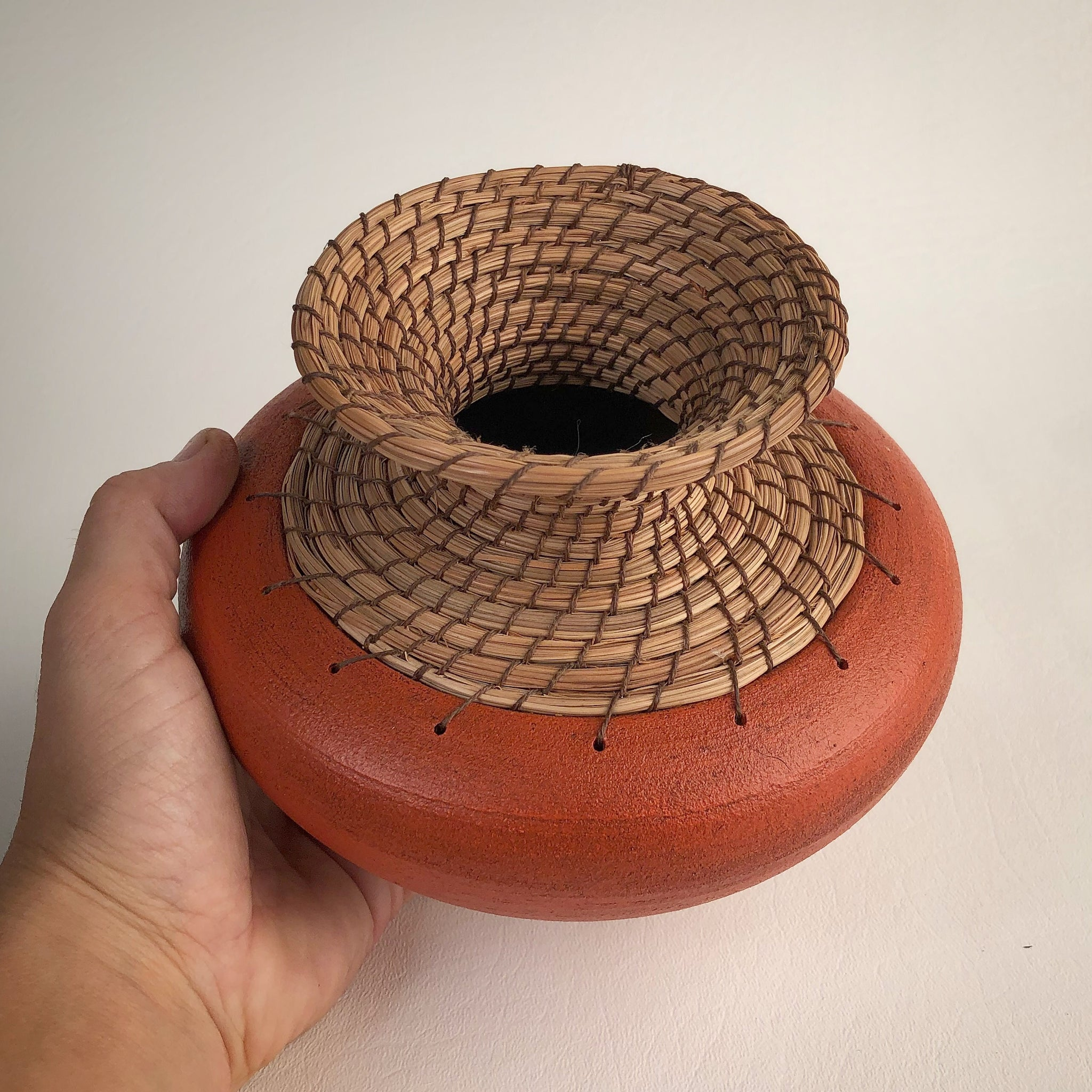 Burnt orange vase