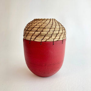 Small Red bud vase