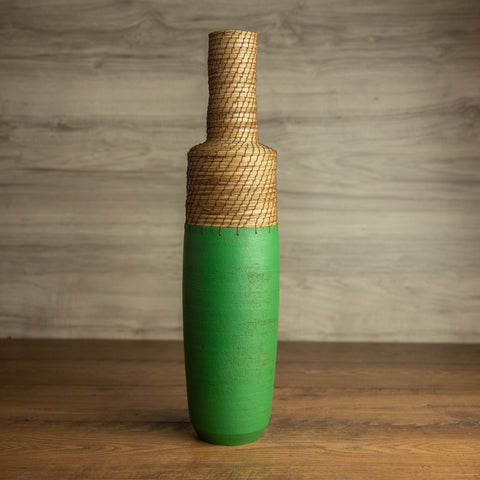 Green Bottle Vessel