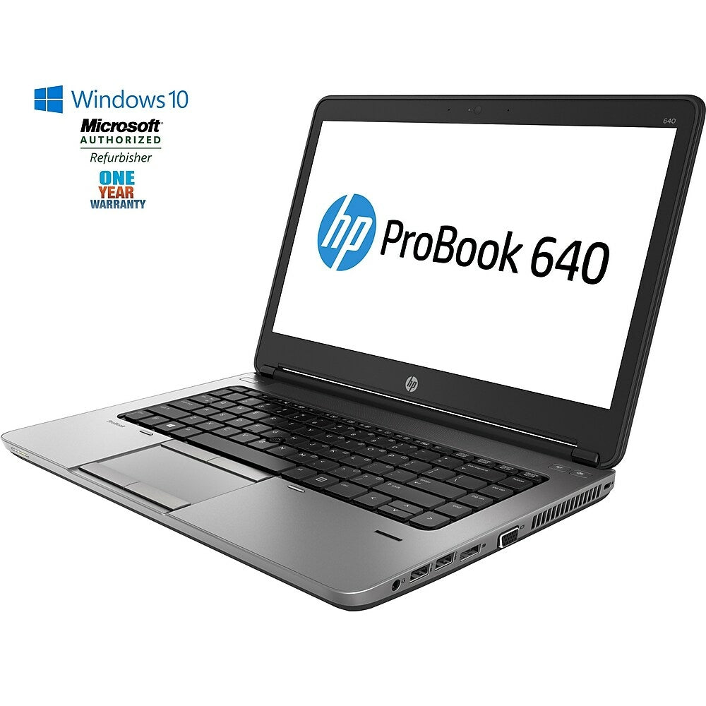 Image of HP Refurbished PROBOOK 640 G1 14-inch Notebook, 2.6 GHz Intel Core i5 4210M, 500 GB HDD, 8 GB DDR3, Windows 10 Home