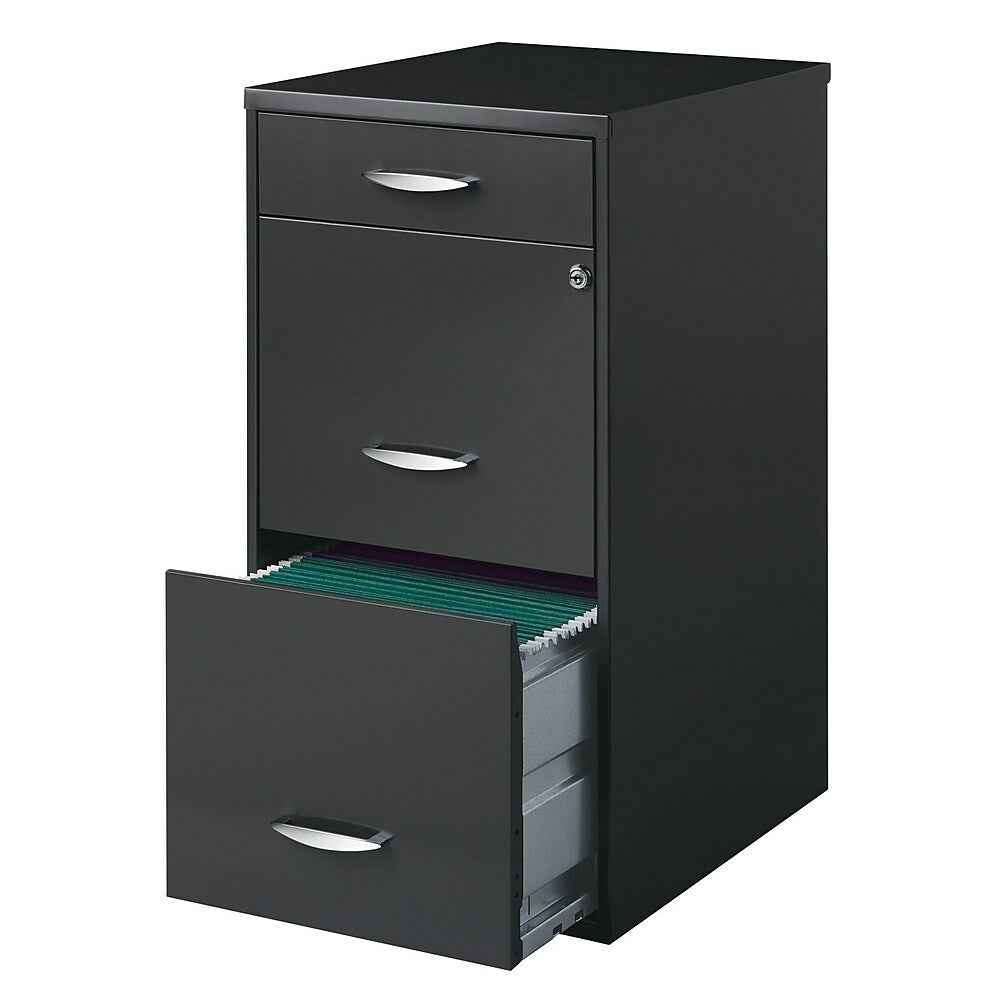 Office Designs 18 Deep Vertical File Cabinet 3 Drawer Charcoal Staples Ca