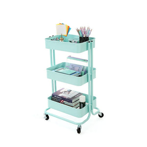 Simply 3 Tier Rolling Cart - Teal