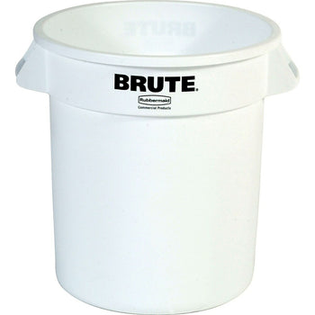 Image of Round Brute Containers, White, 3 Pack