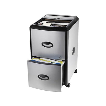 Storex Deluxe File Cabinet With Lock Metal Accent Panels Extra Stora Staples Ca