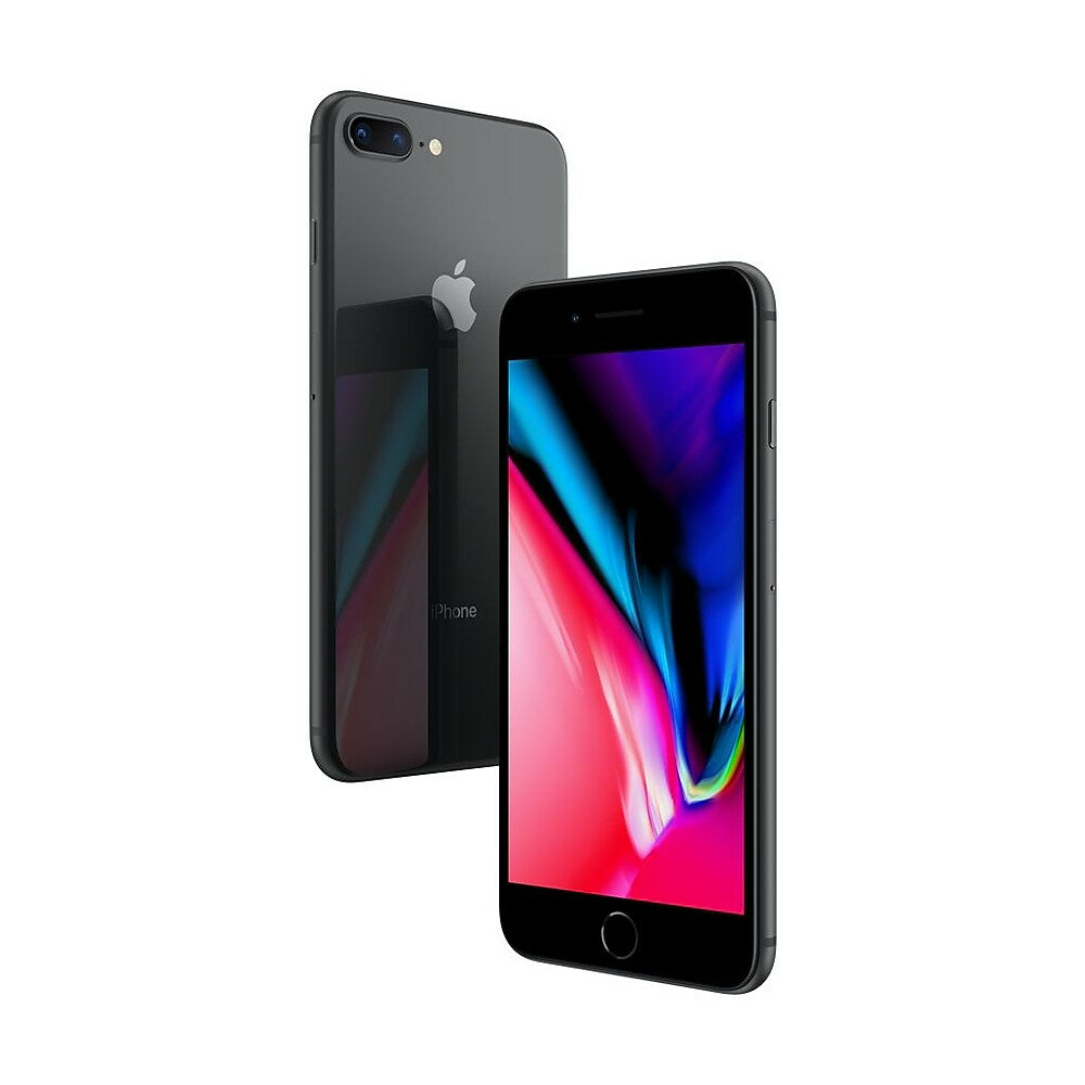 Image of Apple iPhone 8 Plus 5.5-inch Unlocked Cell Phone, 256 GB, A11 Bionic CPU Hexa-core, iOS 11, Space Grey (MQ8P2VC/A)