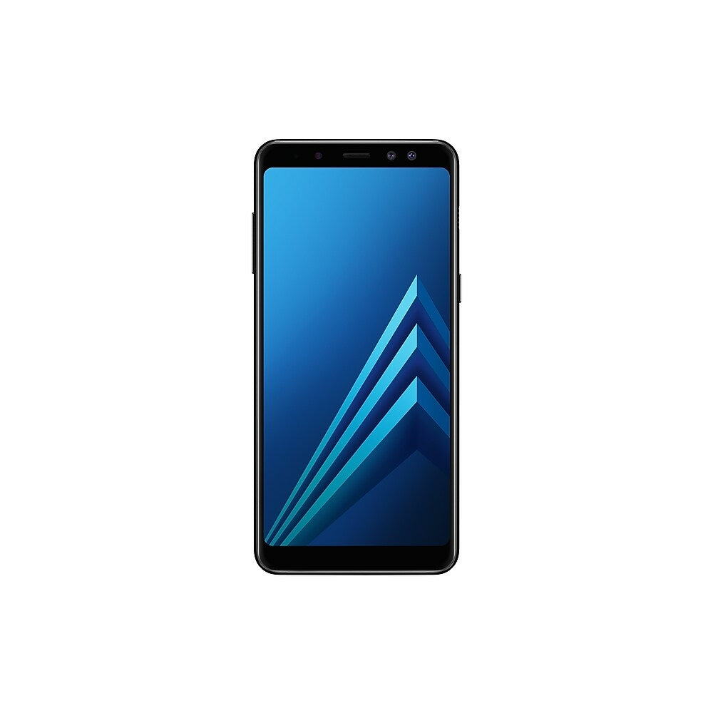 """Image of Samsung Galaxy A8 5.6"""" Unlocked Cell Phone, 32 GB, 2.2 GHz Exynos 7885 Octa Core, Android 7.1.1 (Nougat), Black (SM-A530WZKAXAC)"""