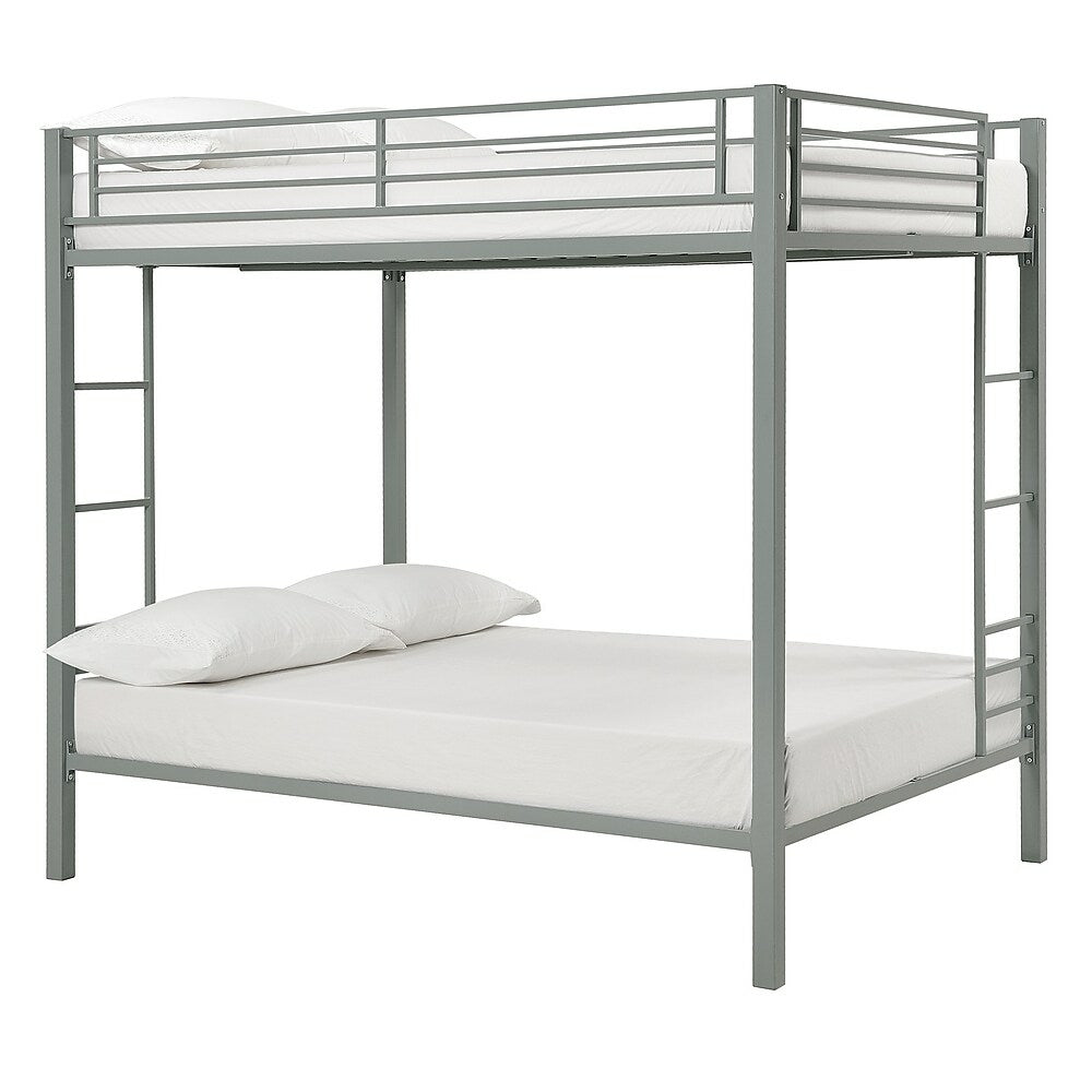 Image of DHP Full Over Full Metal Bunk Bed - Silver