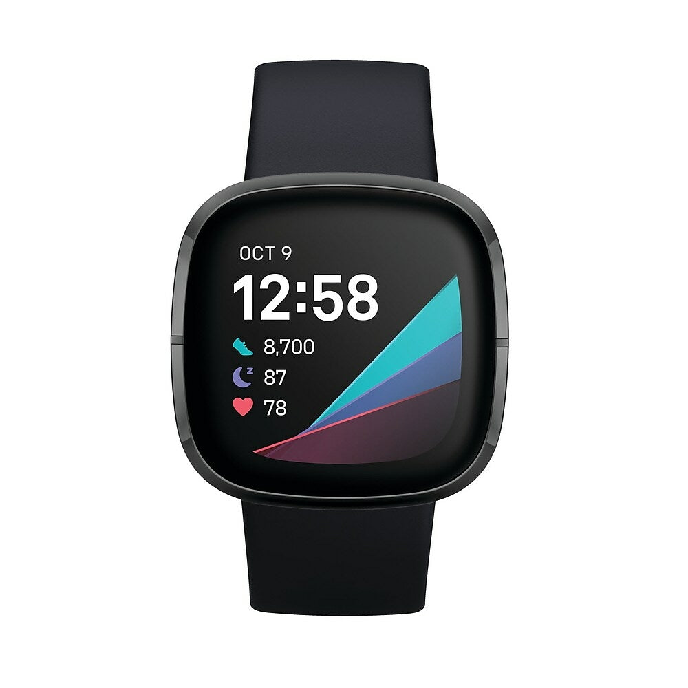 Image of Fitbit Sense Smart Watch - Carbon/Graphite Stainless Steel