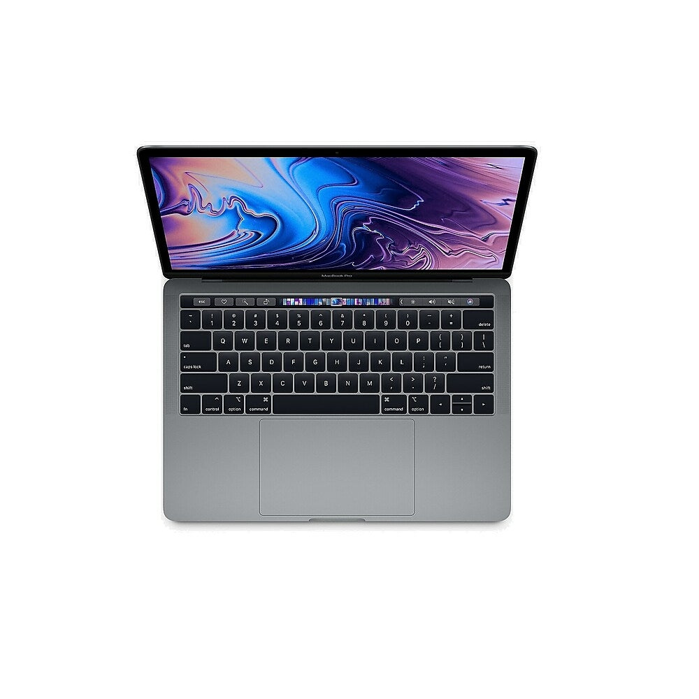 """Image of Apple MacBook Pro with Touch Bar MV962LL/A 13"""" Notebook, 2.4 GHz Intel Core i5, 256 GB SSD, 8GB LPDDR3, macOS Mojave, Space Grey"""