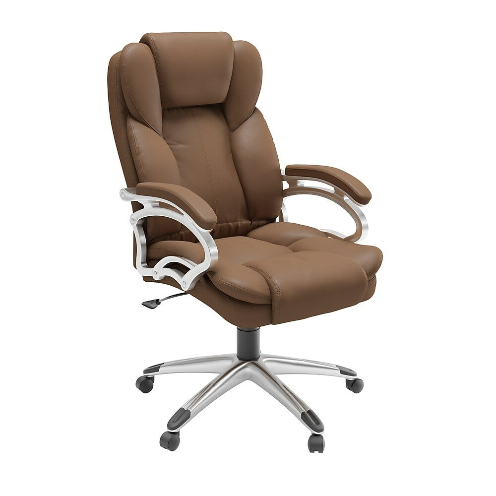 Corliving Lof 428 O Caramel Brown Leatherette Executive Office Chair Staples Ca