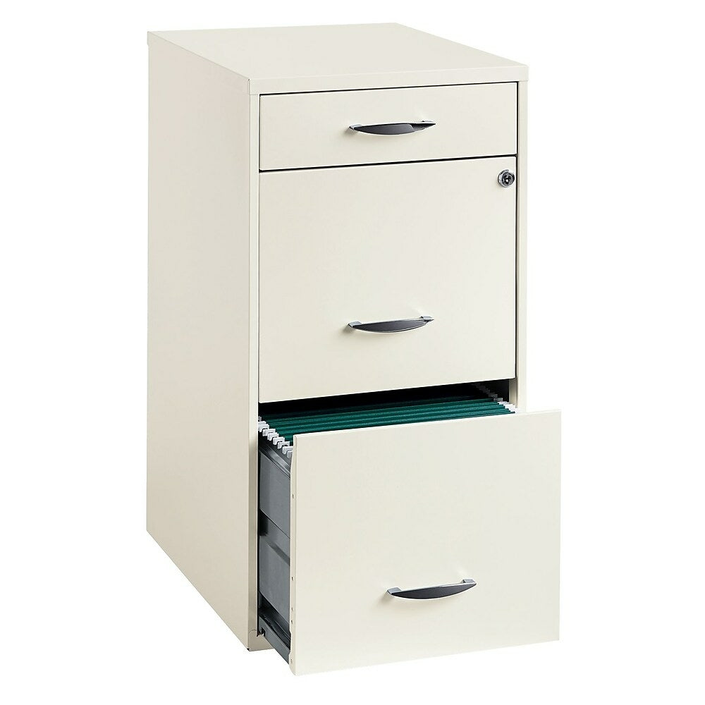 Office Designs 18 Deep Vertical File Cabinet 3 Drawer Pearl White Staples Ca